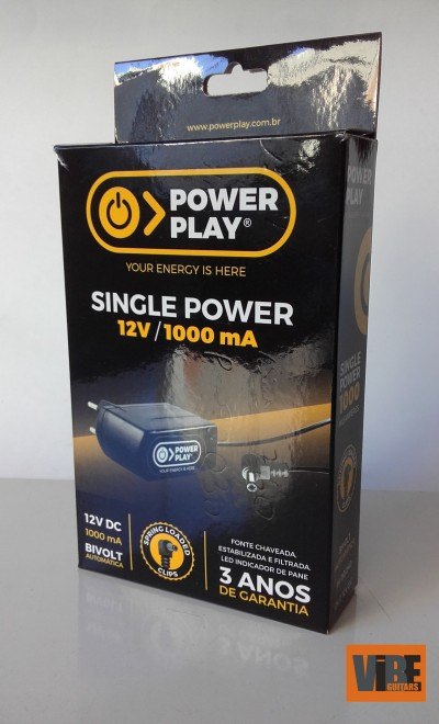 Fonte Power Play Single Power 12V DC 1000mA