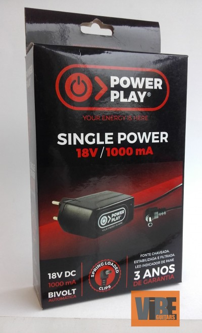 Fonte Power Play Single Power  18V DC 1000 mA