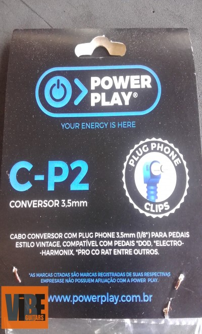 Power Play Cabo Conversor C-P2 3,5mm